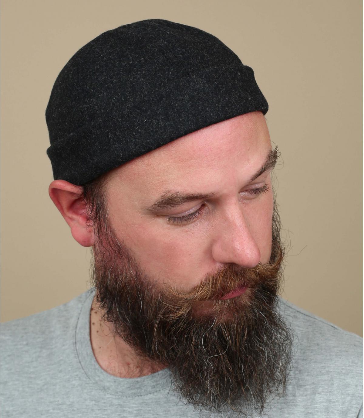 cappello docker in lana grigia