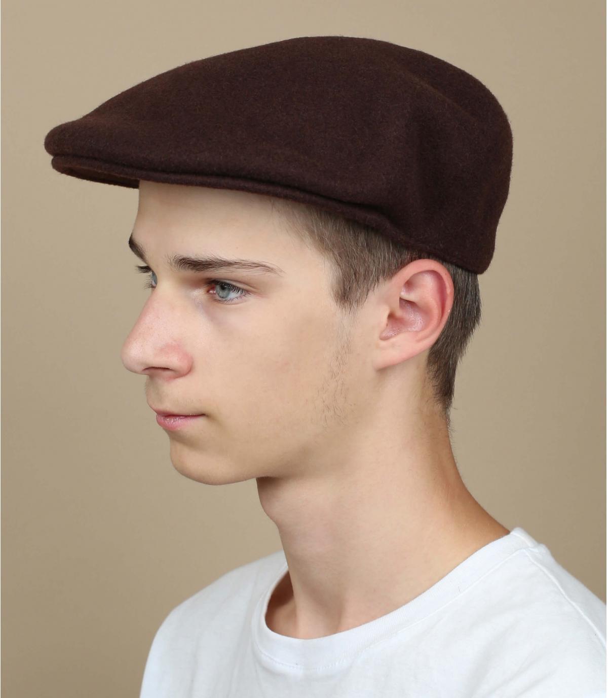 berretto di lana marrone Kangol