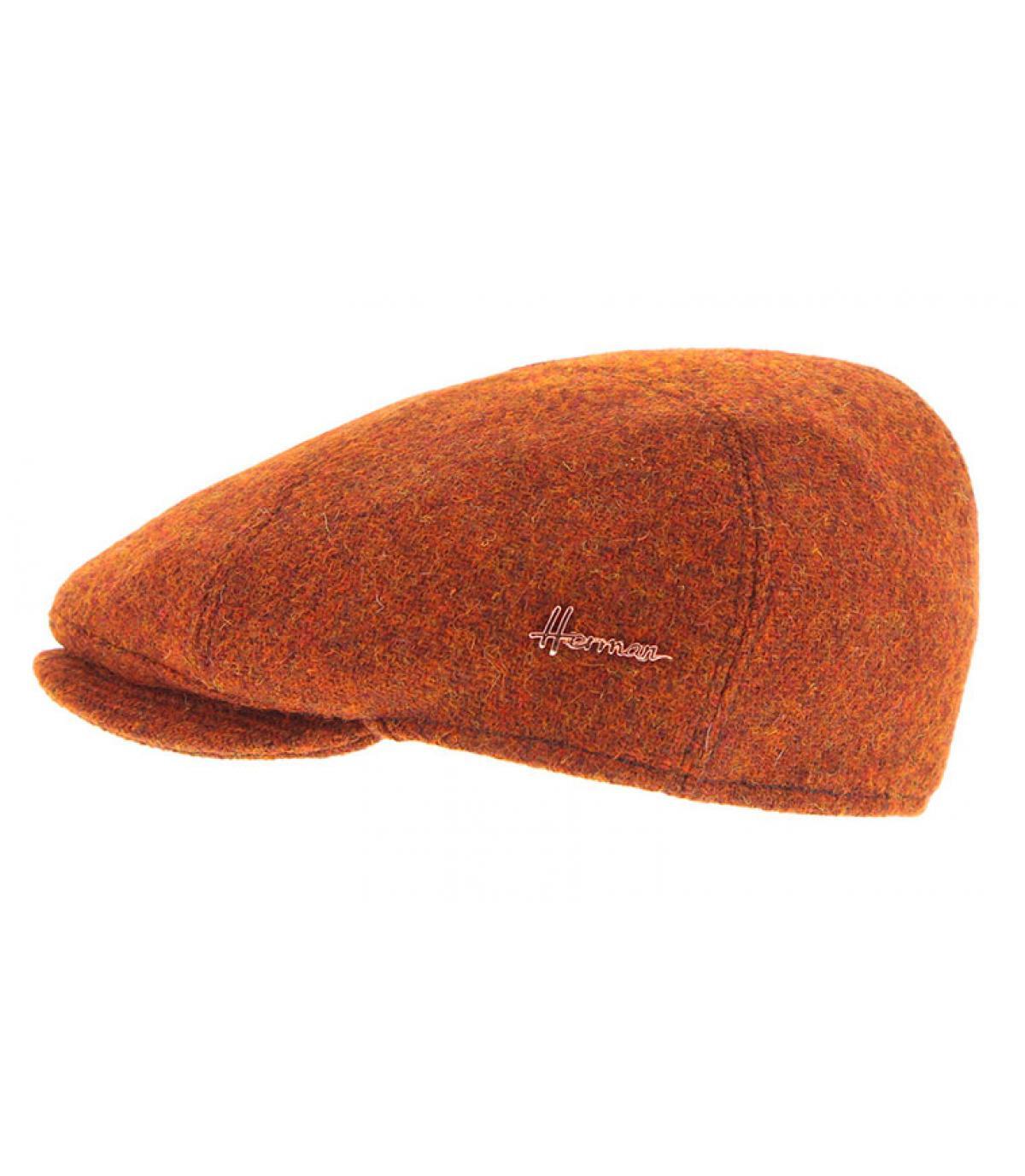 berretto arancione tweed Herman