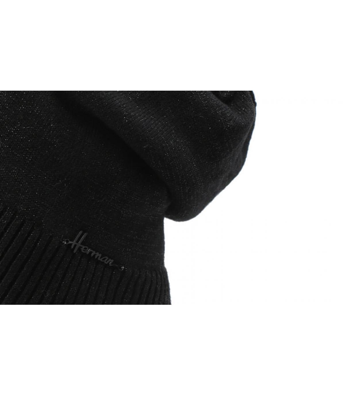 Cappuccio nero lungo in lurex