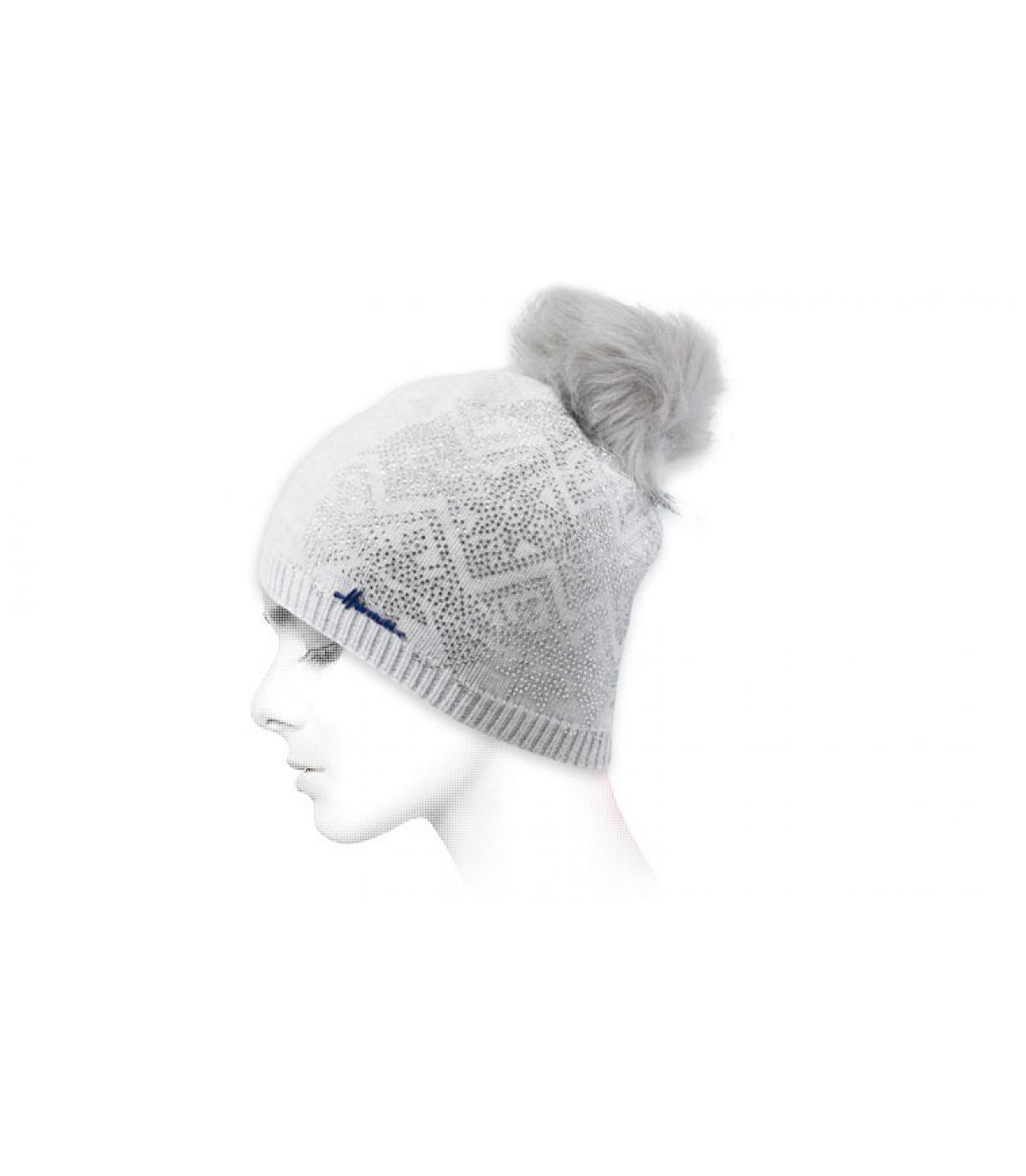strass bonnet blu cielo