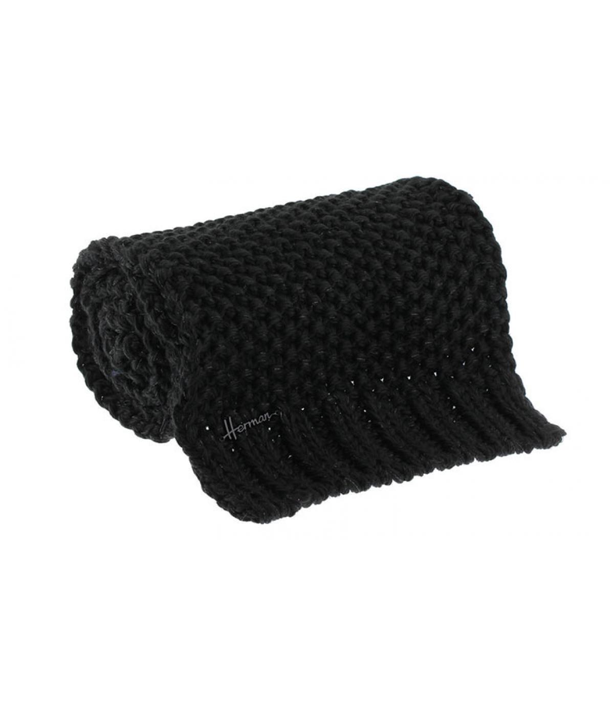 sciarpa in lurex nero