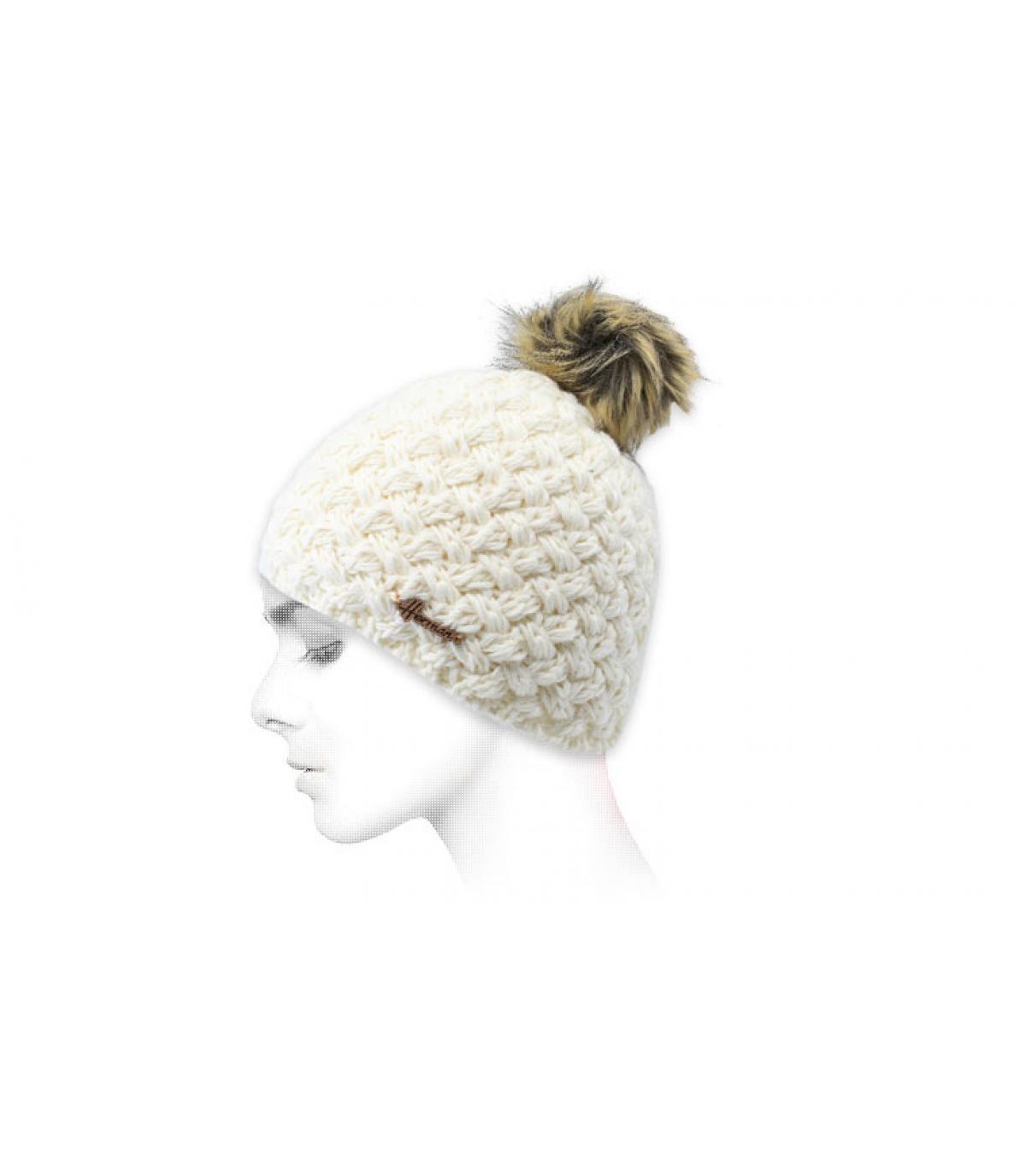 berretto di lana bianca di pelo