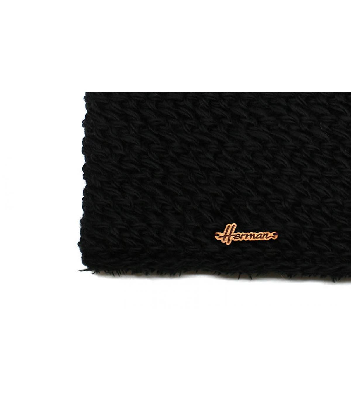 snood di lana nera