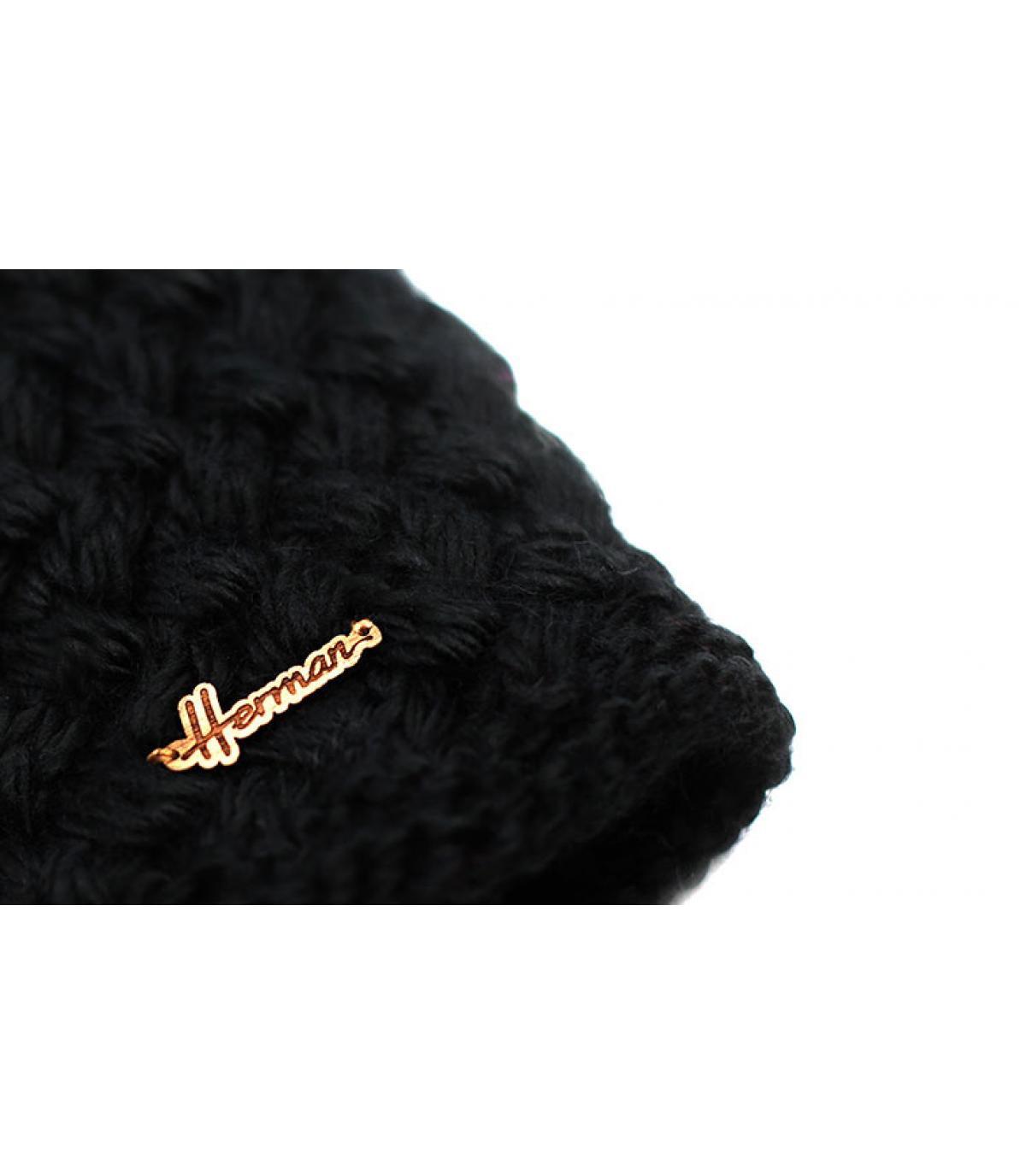 guanti di lana nera