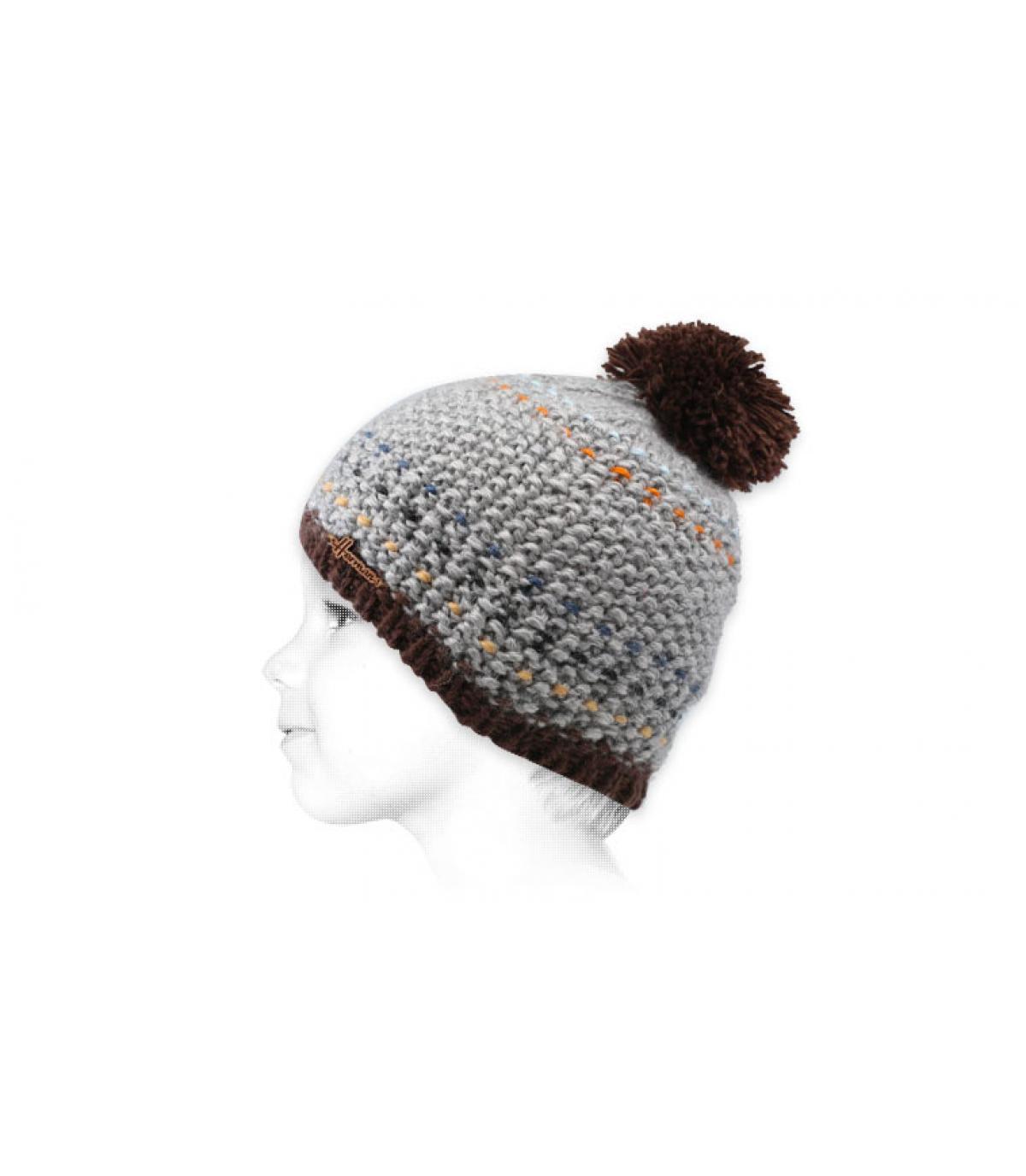 cappello nappa grigio bambino