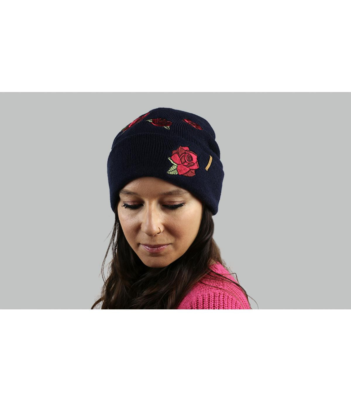 cappello di fiori blu Barts