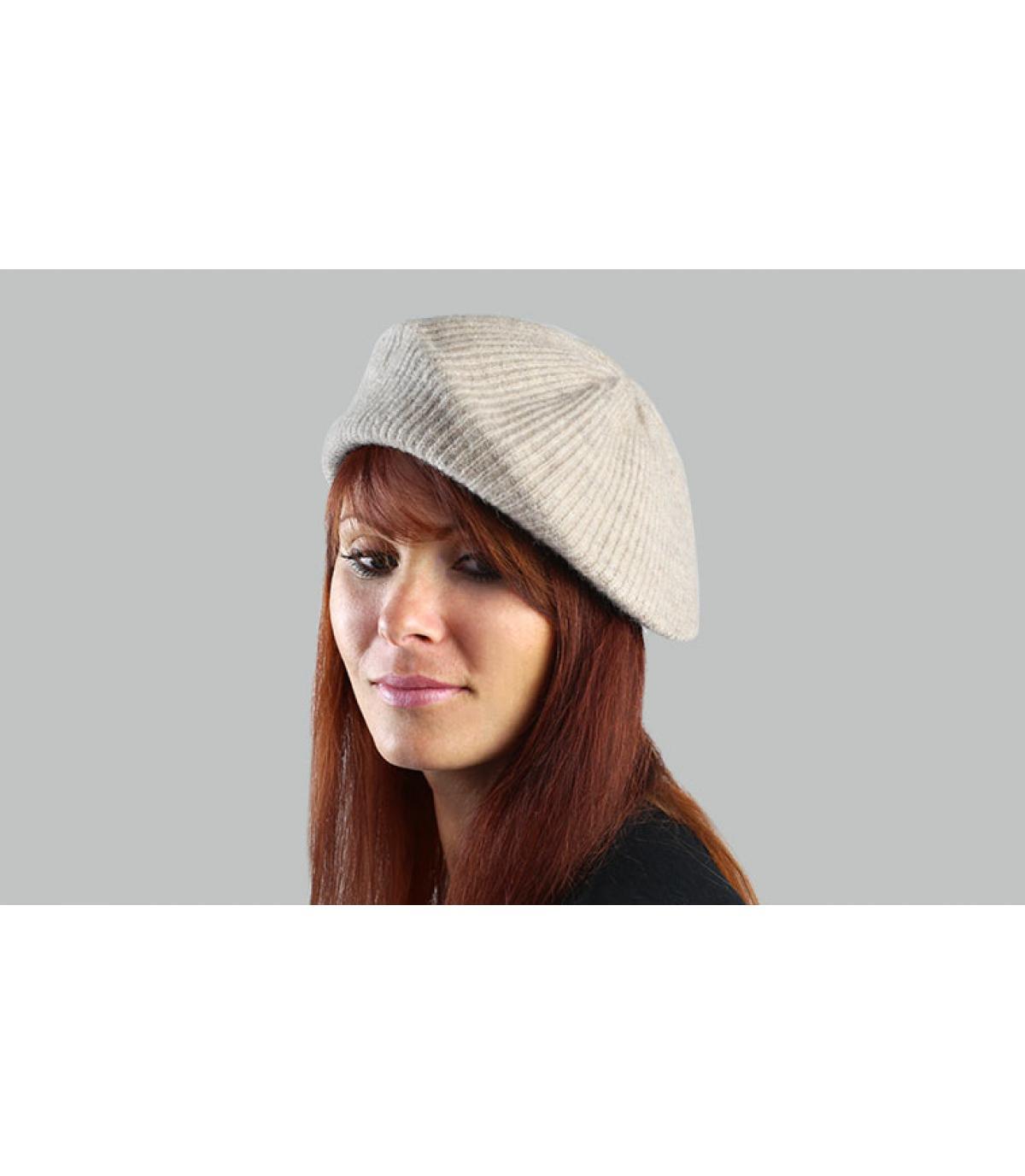 Berretto donna beige berretto