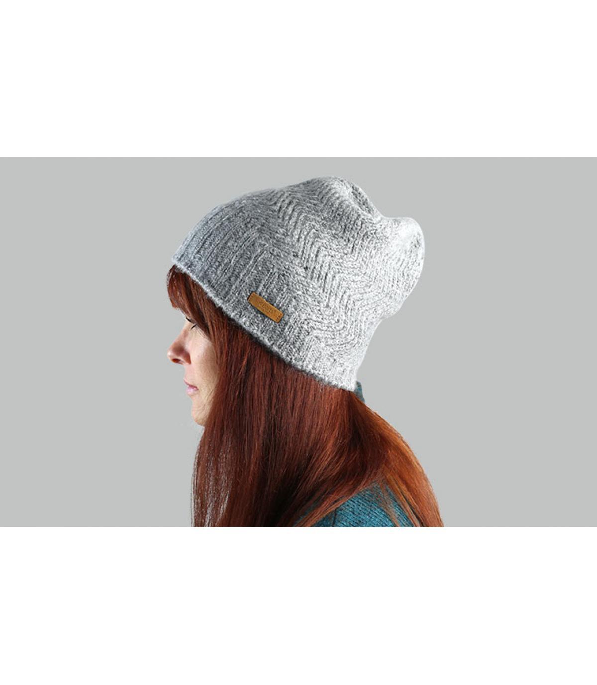 Barts grigio lungo cappello