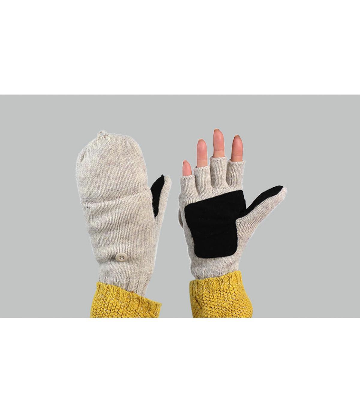 guanti mittens donna grigio