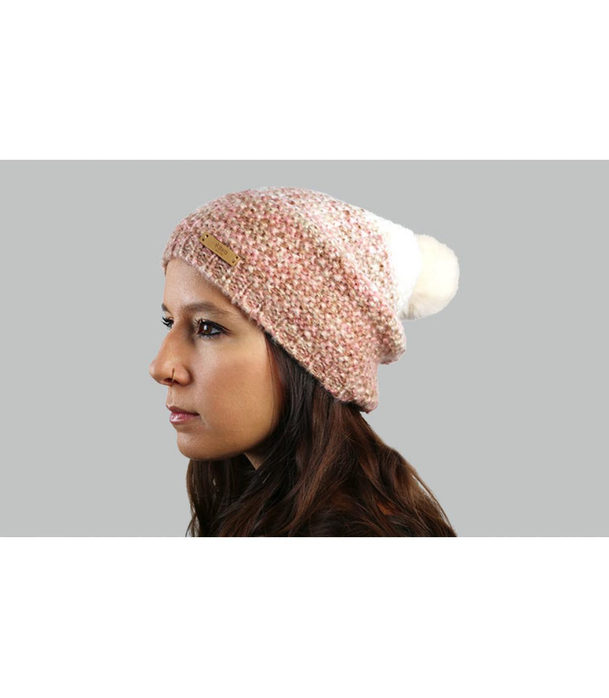 cappello lungo sfumato rosa