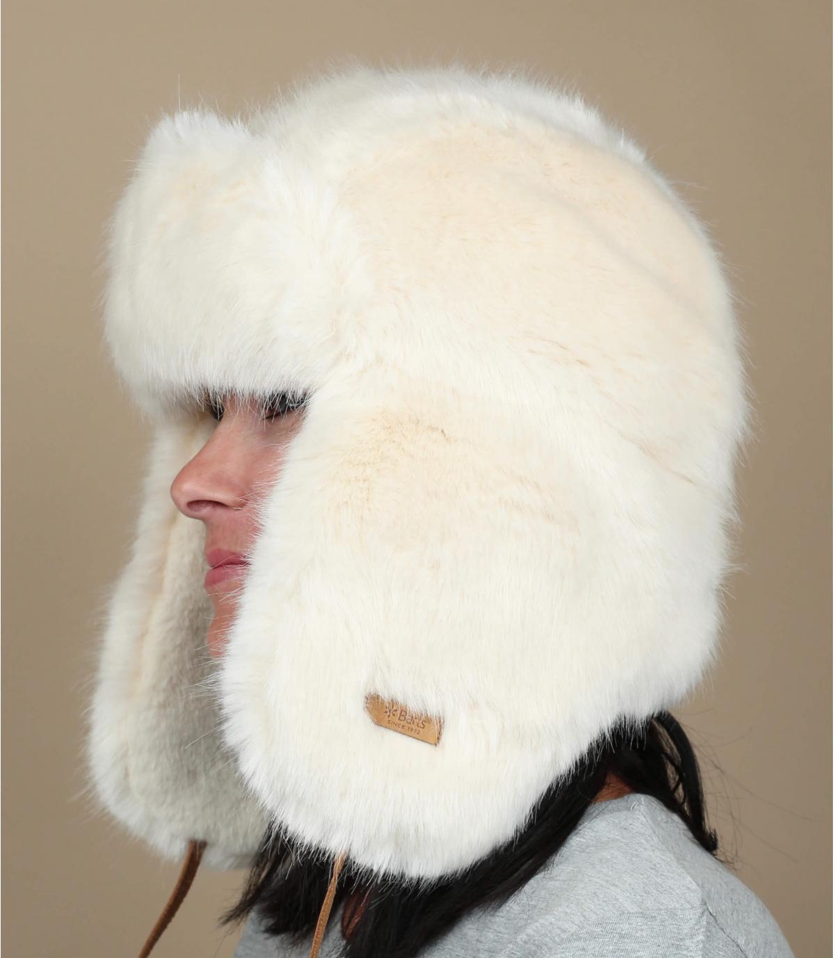 cappello di pelliccia donna bianca Barts