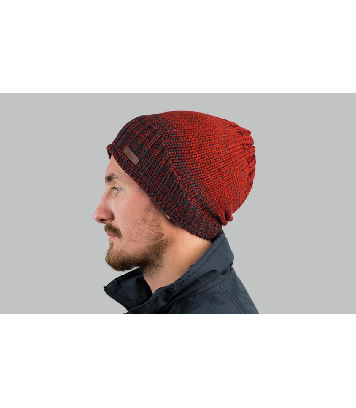 cappello lungo sfumato bordeaux