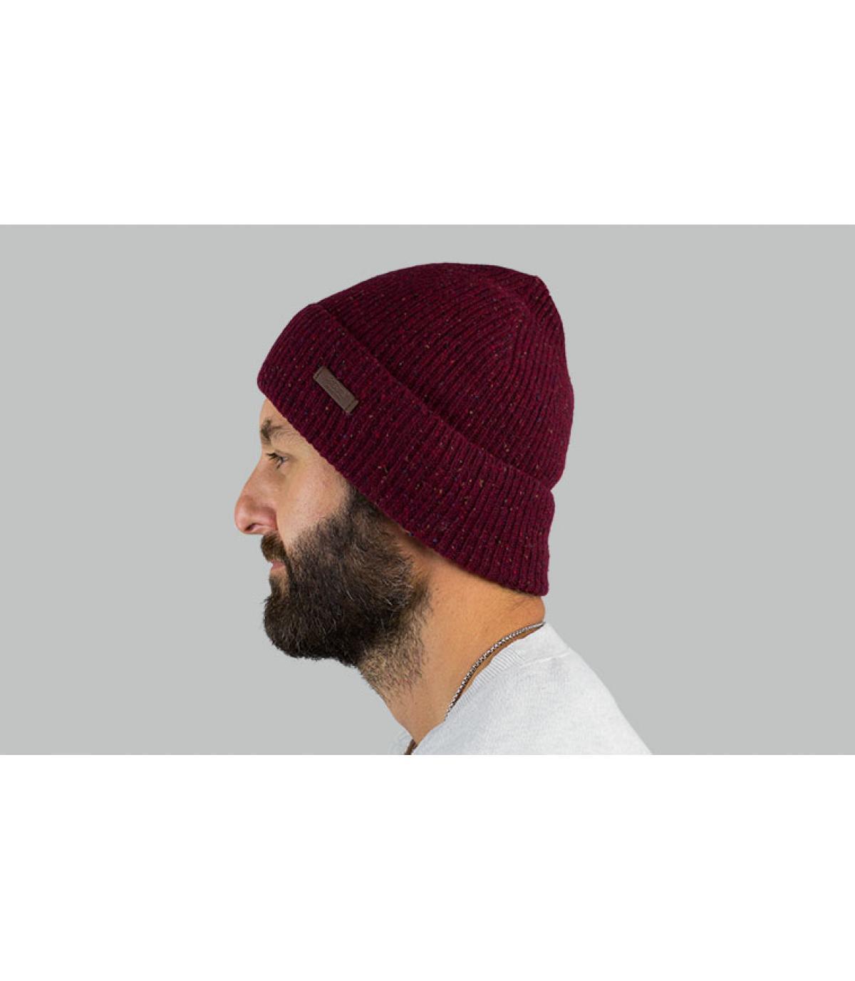 cappello reversibile bordeaux