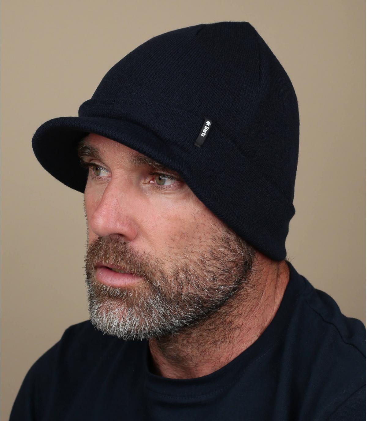 cappello visiera blu scuro