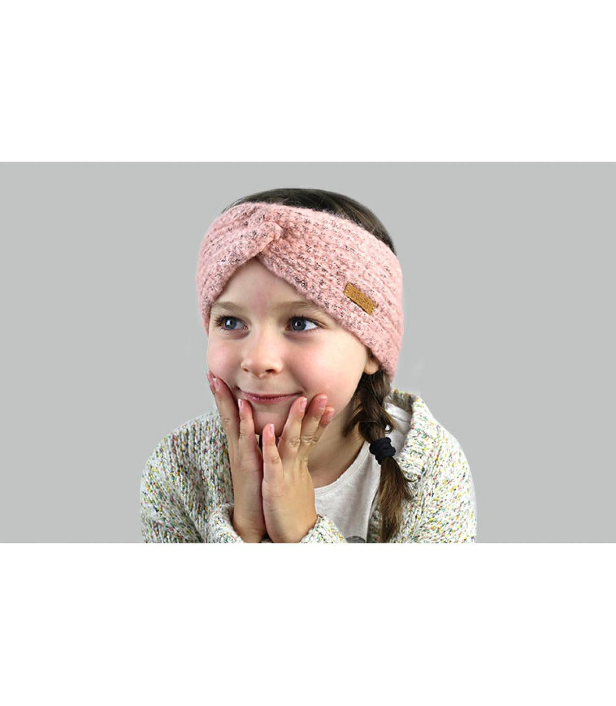 fascia per capelli rosa