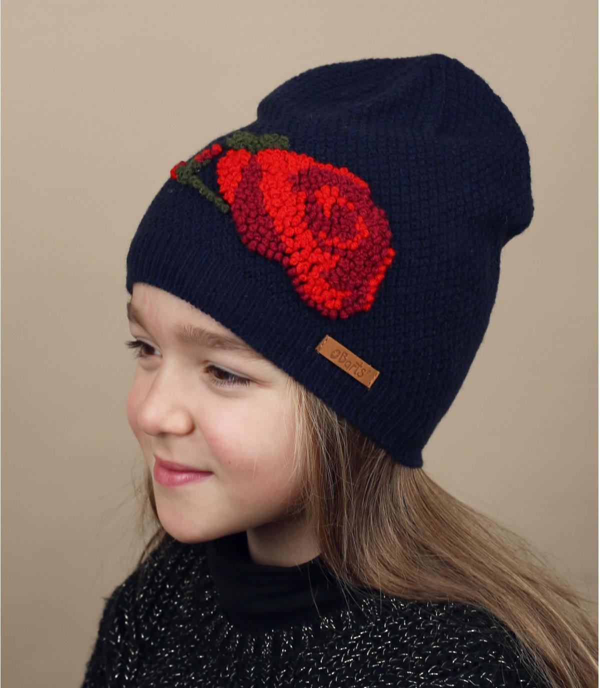 cappello da fiore bambino blu