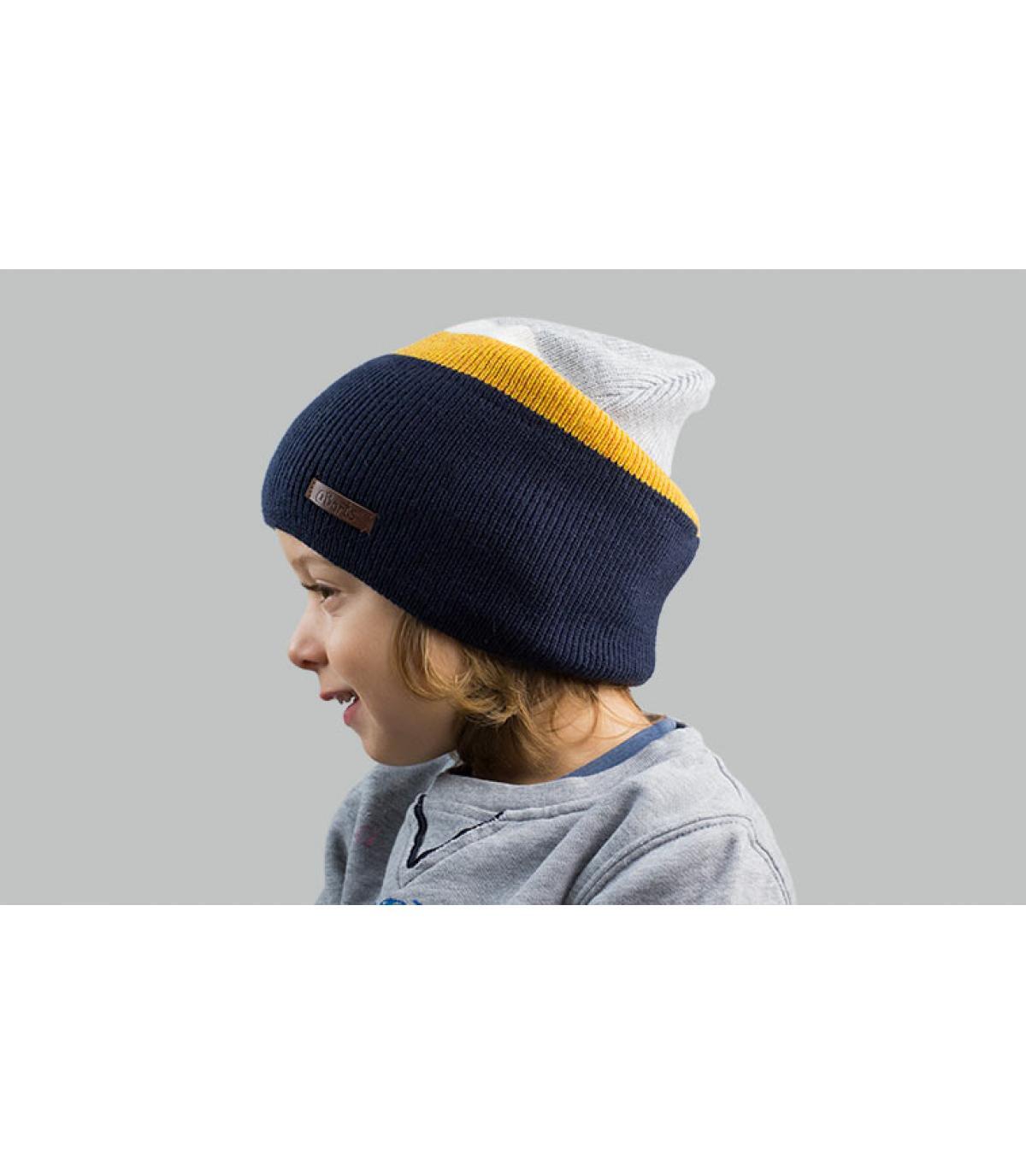 cappello da bambino giallo blu