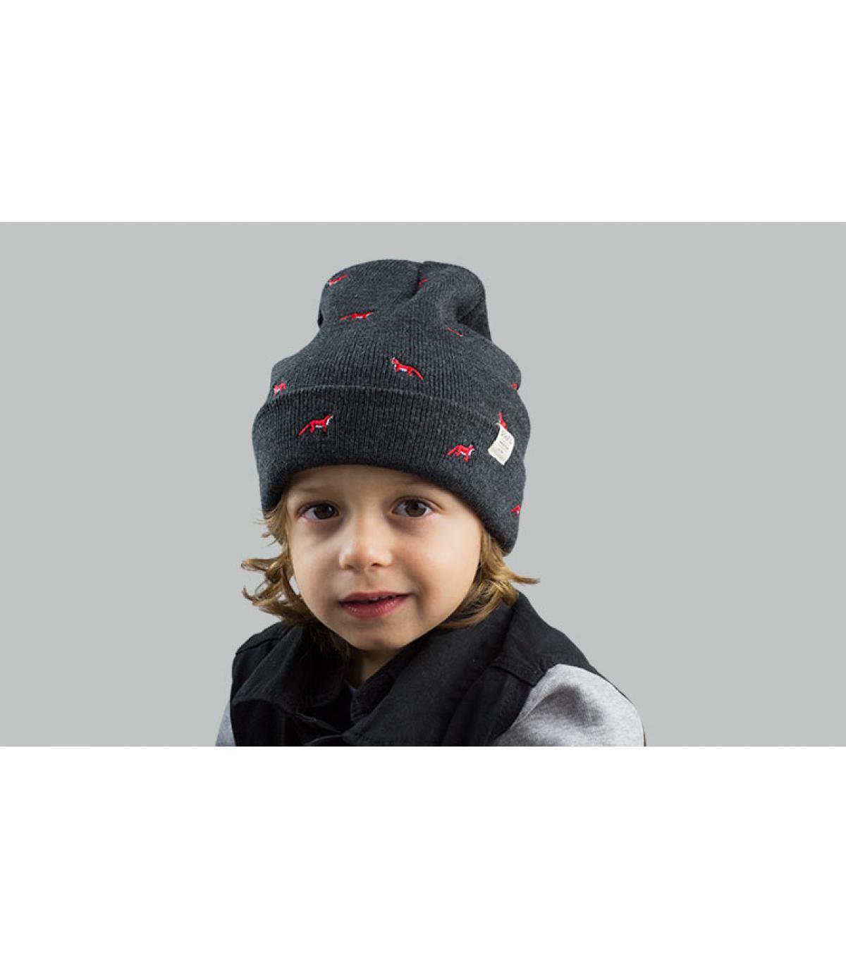 cappello bambino volpe grigia