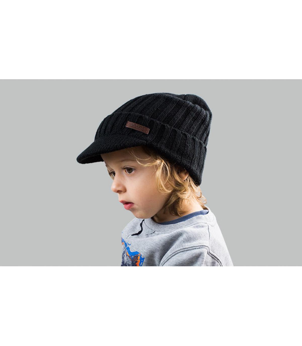 cappello nero visiera per bambini