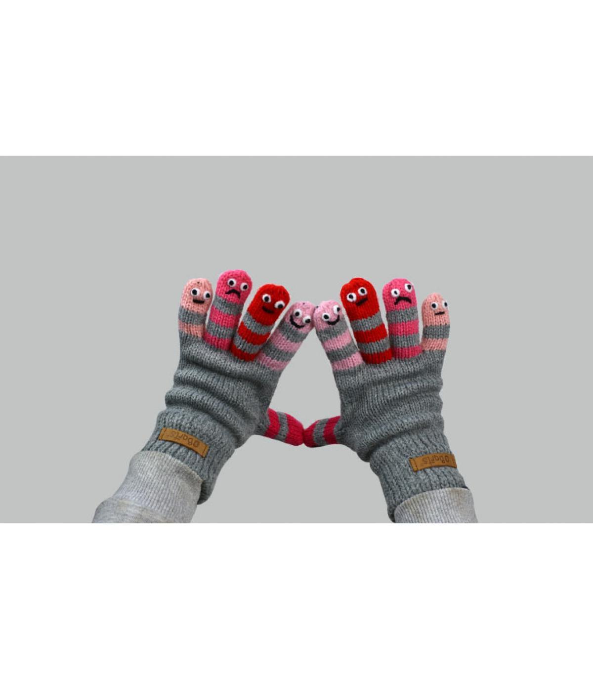 guanti rosa bambino rosa