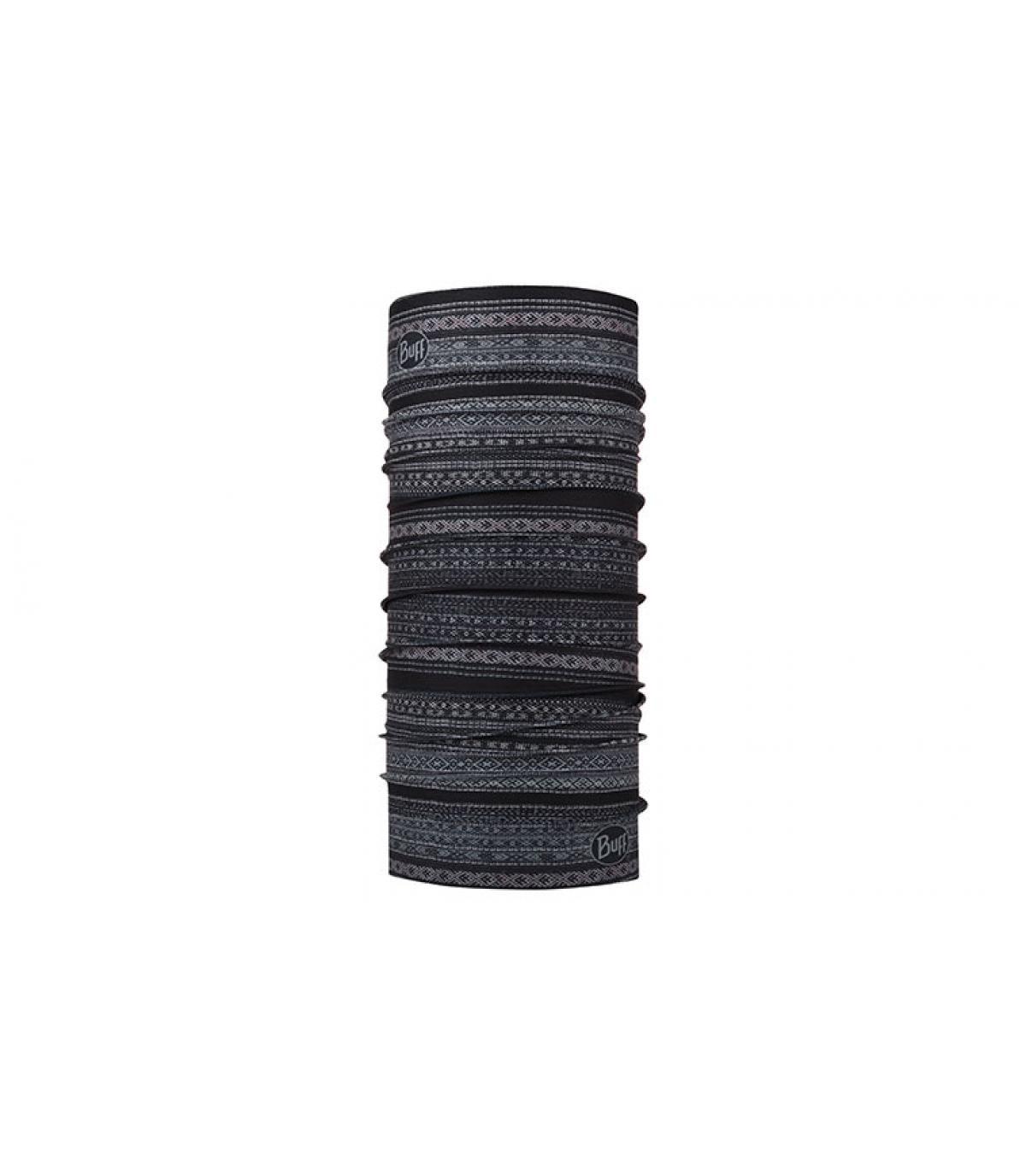 Buff nero grigio stampato