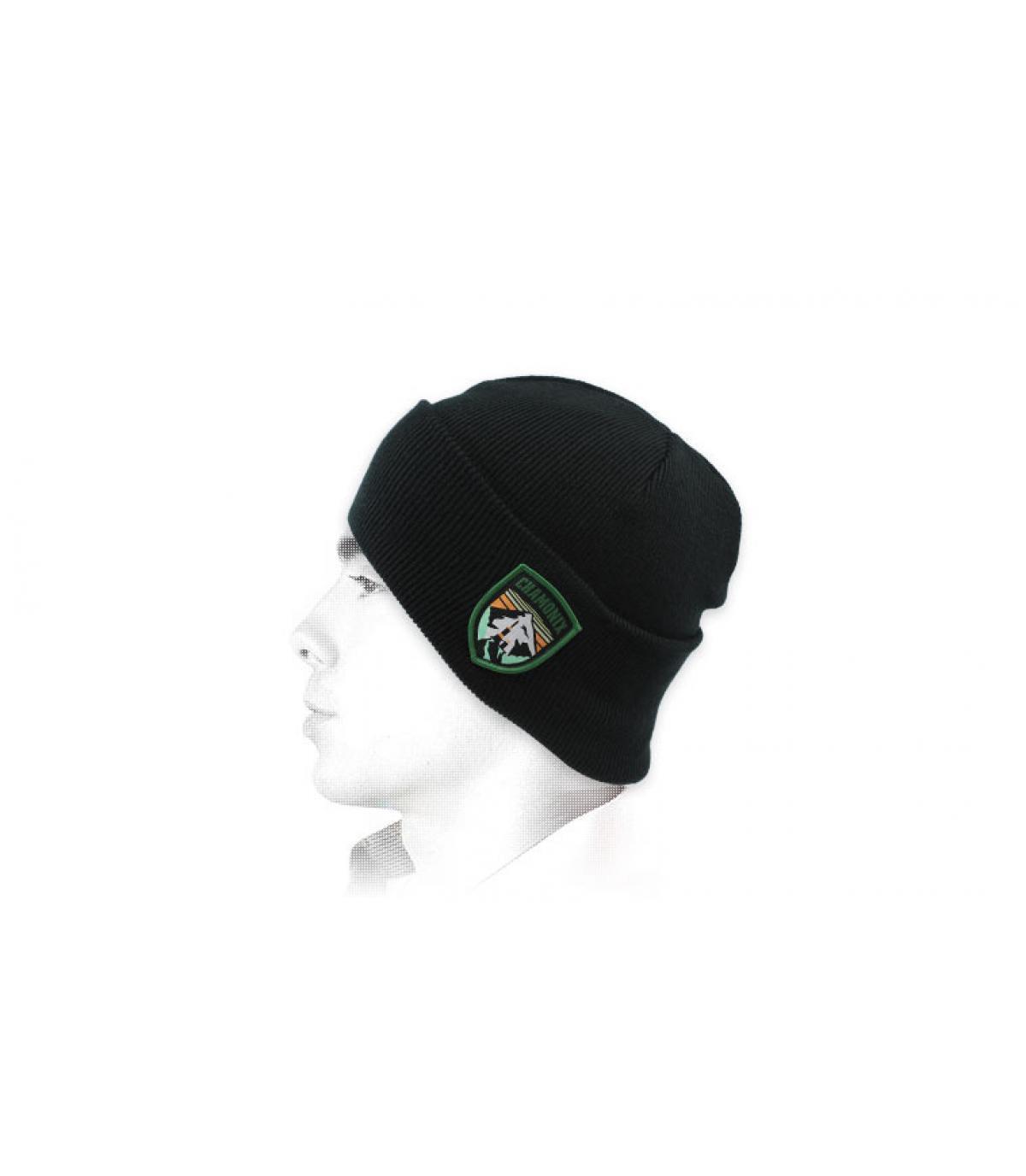 berretto nero Chamonix