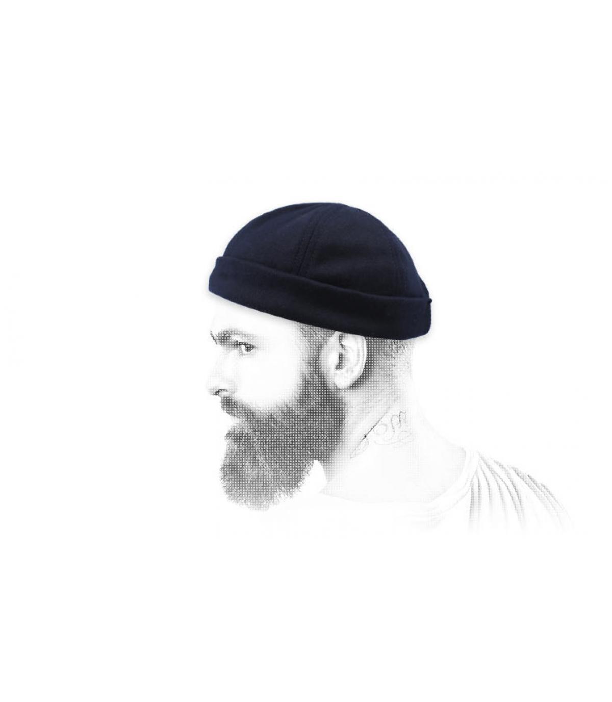 cappello blu docker
