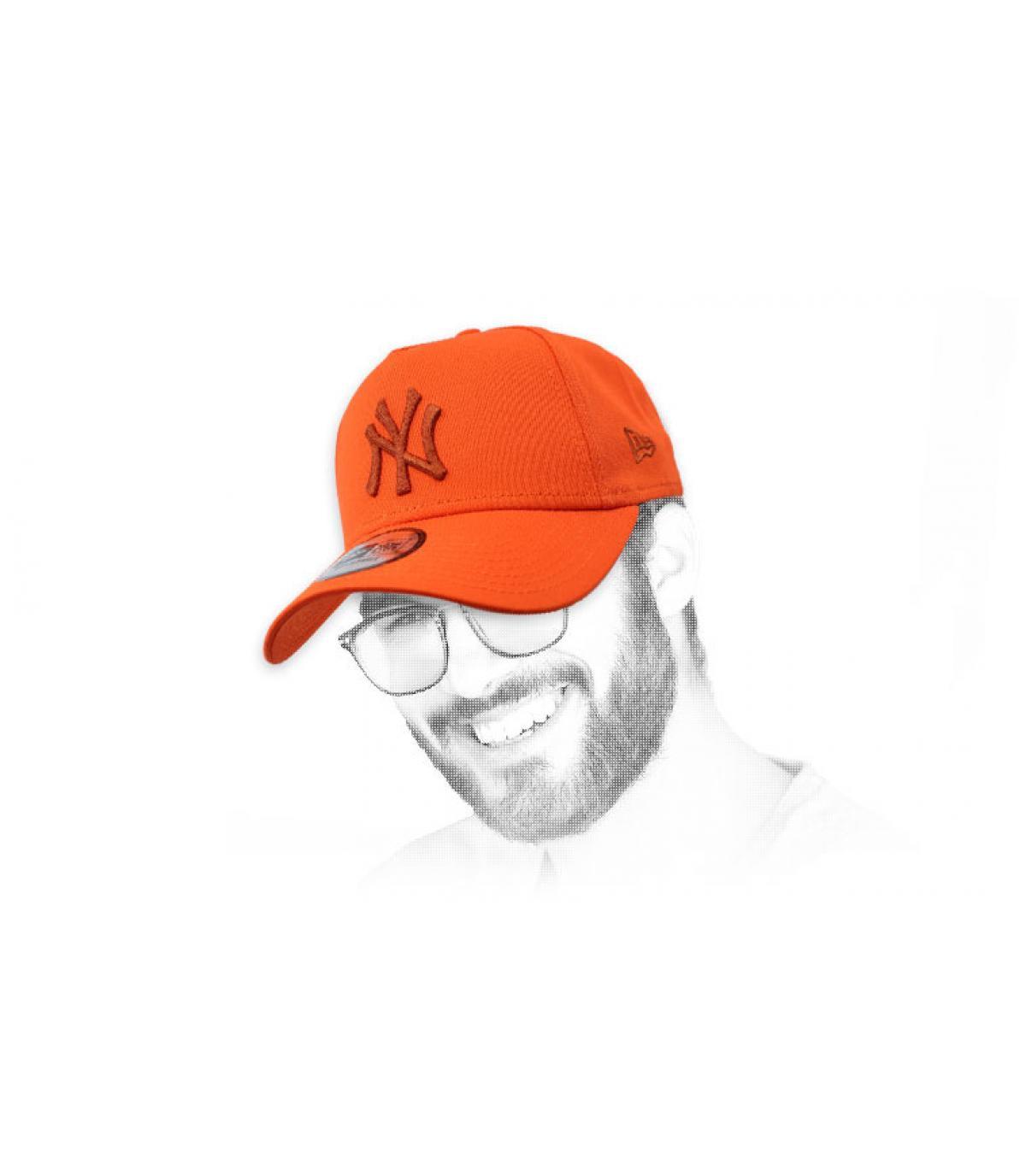 cap NY Orange Aframe