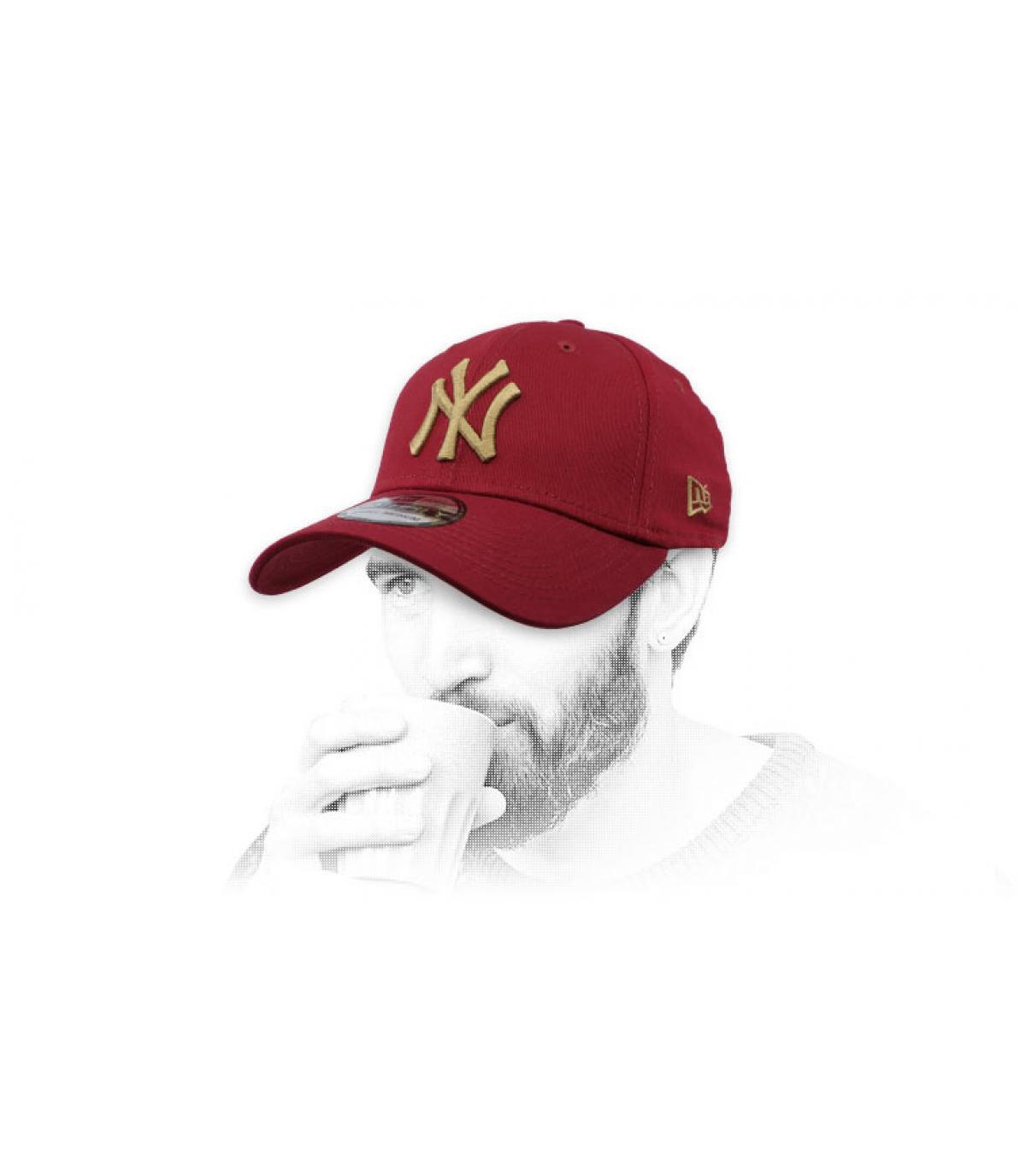 berretto NY bordeaux