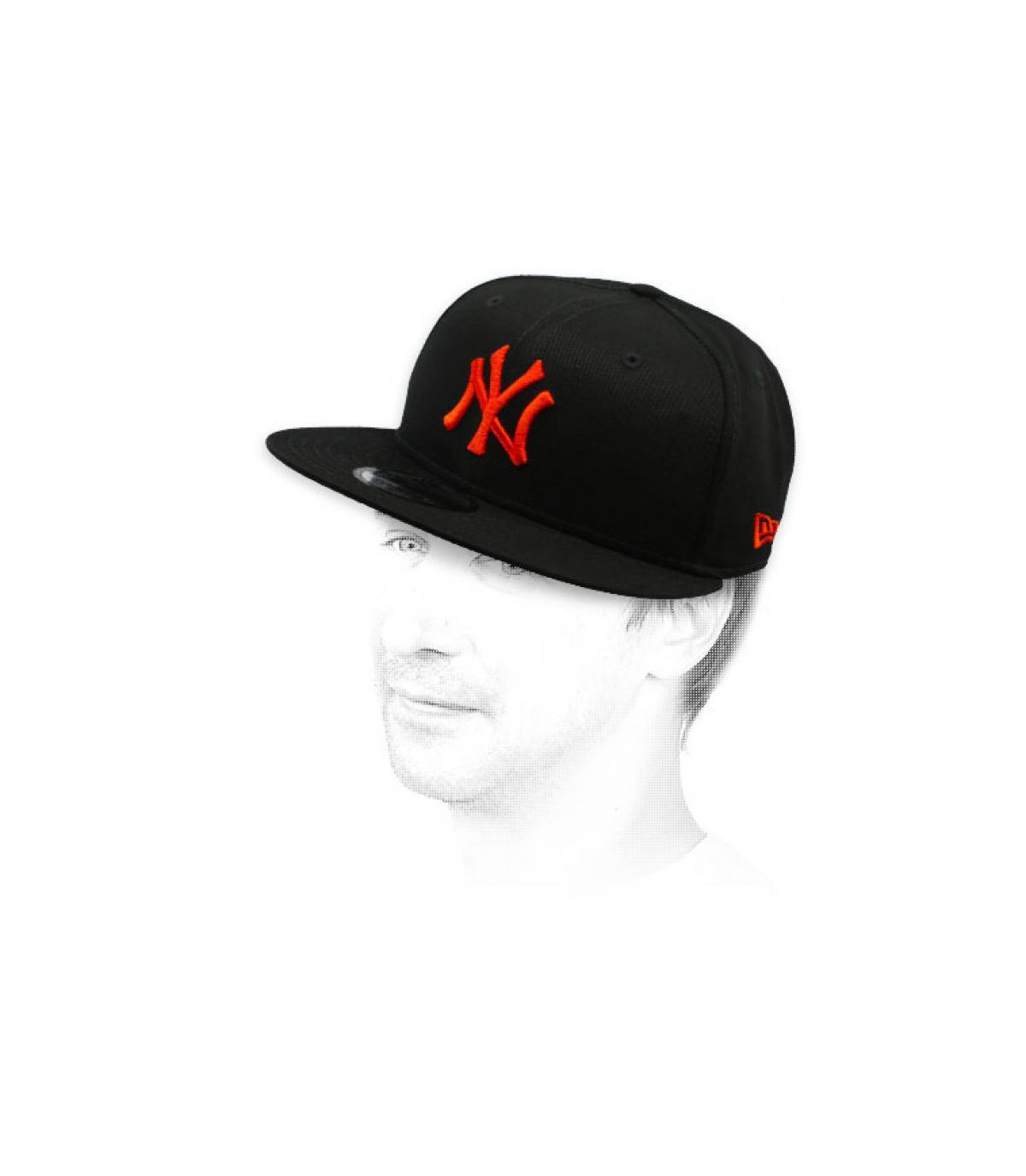 snapback NY nero rosso