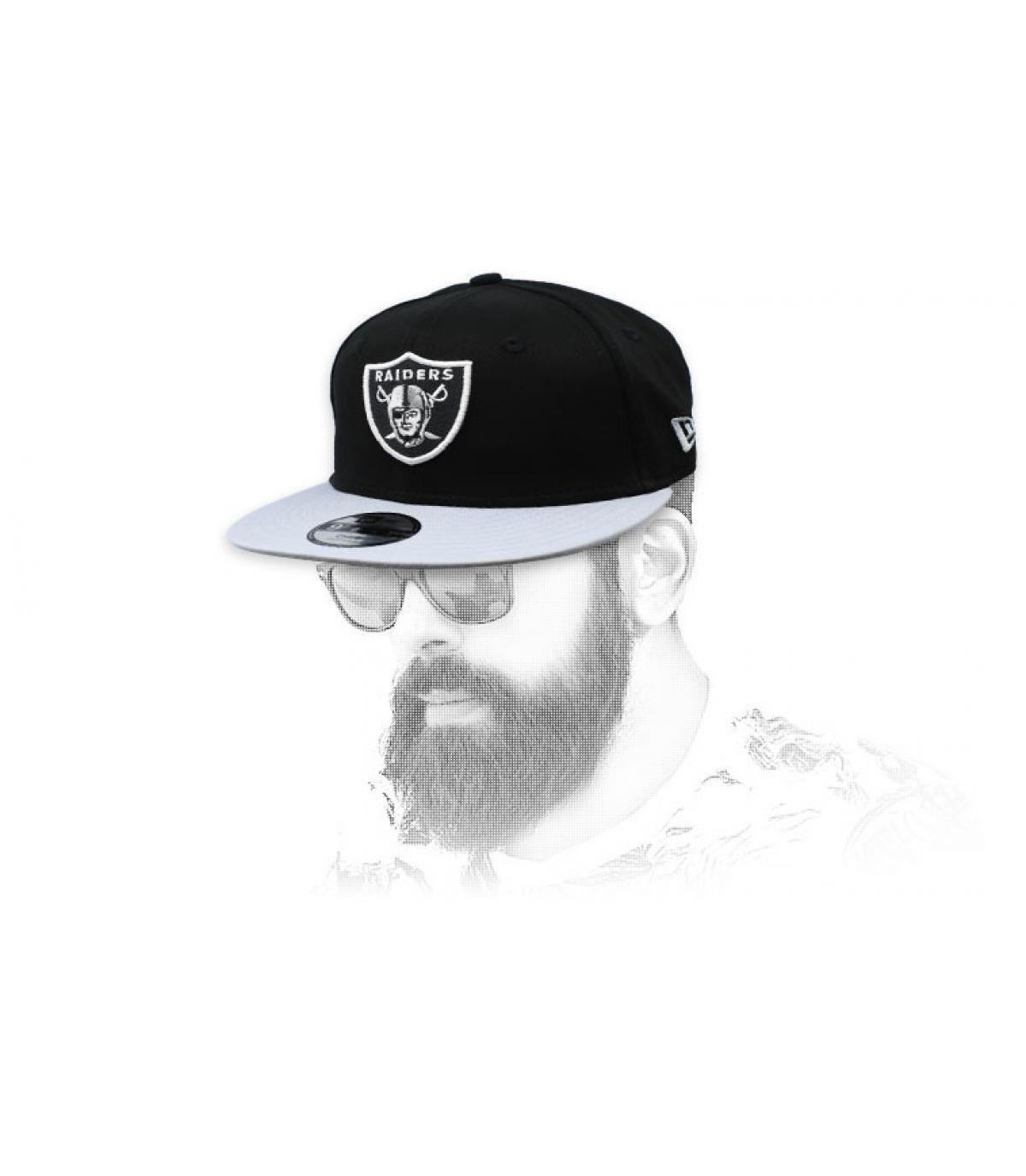 snapback Raiders nero grigio
