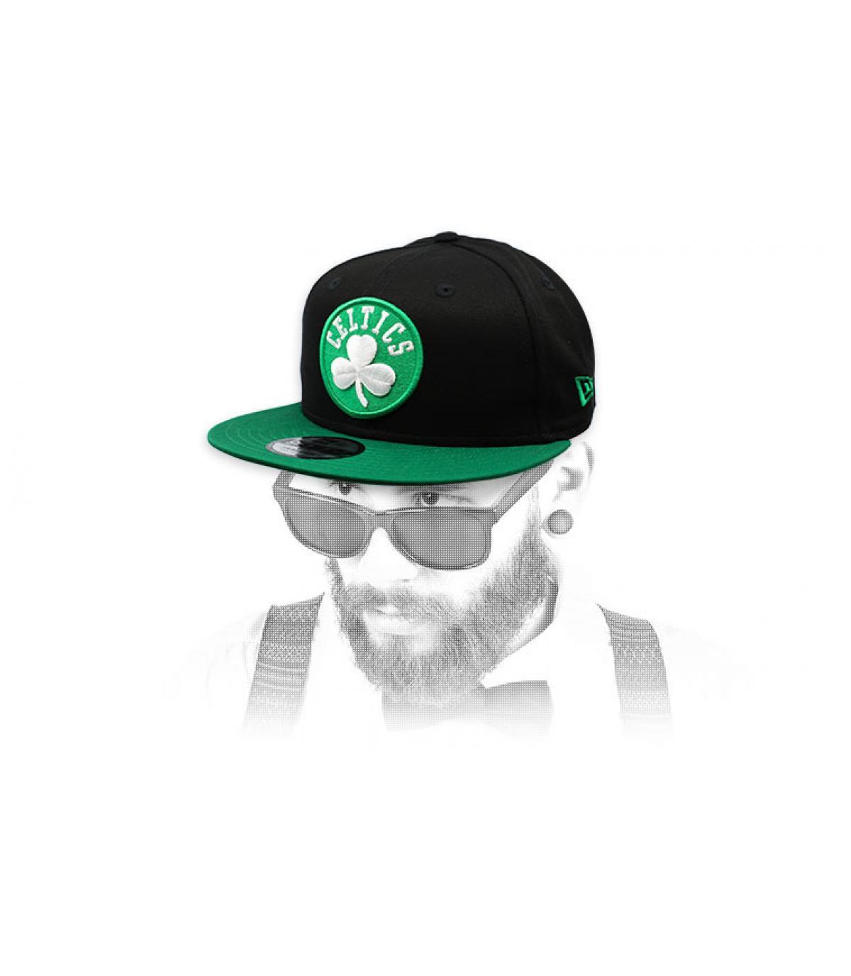 Celtics snapback verde nero