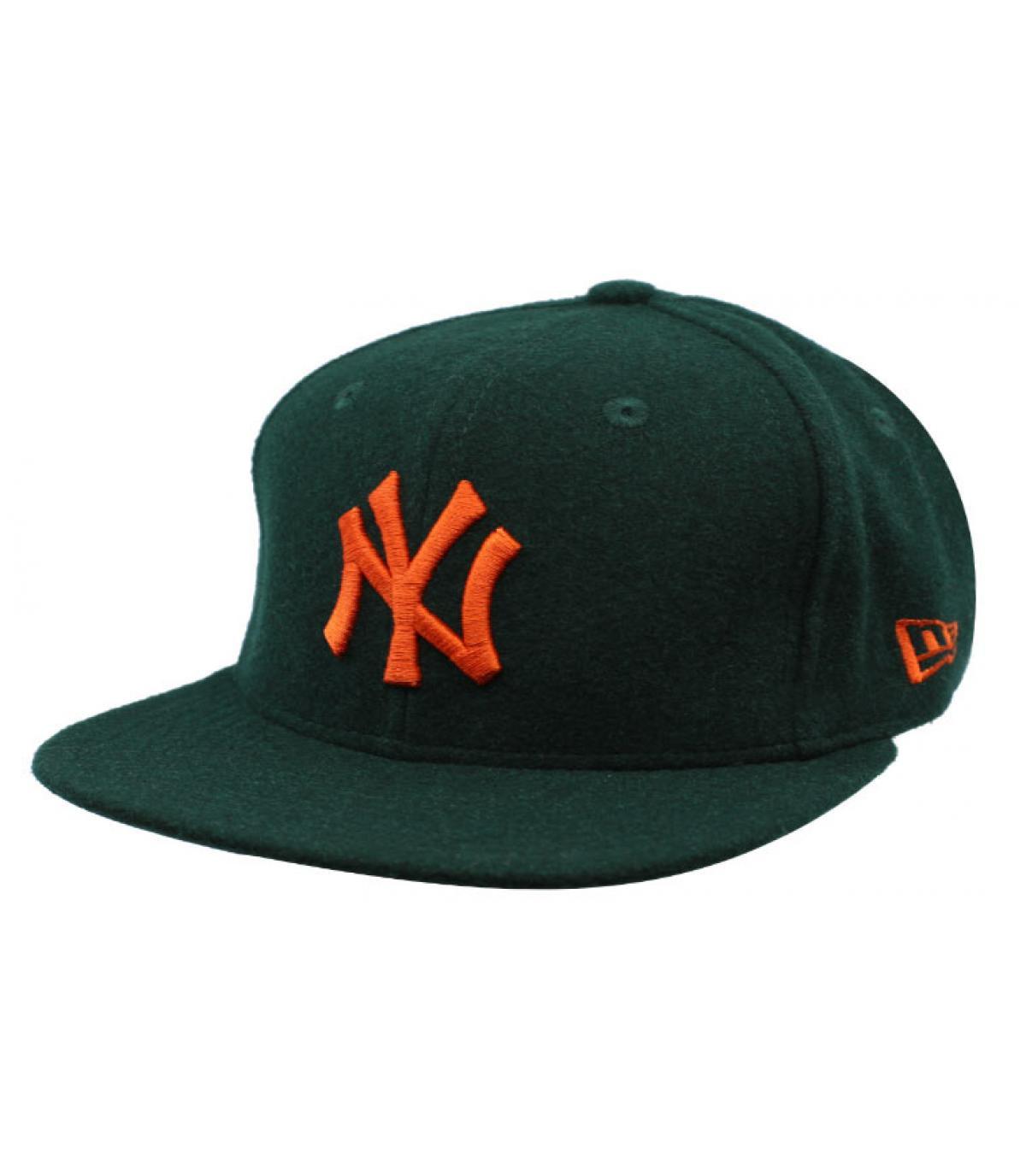 Dettagli Winter Utility NY Melton 9Fifty dark green orange - image 2