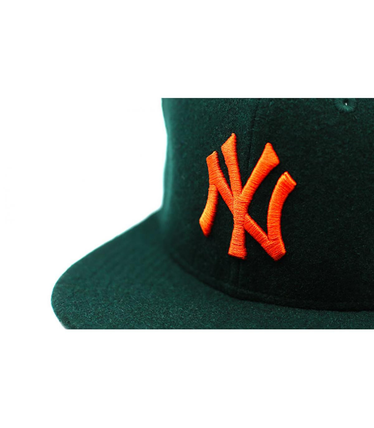 Dettagli Winter Utility NY Melton 9Fifty dark green orange - image 3