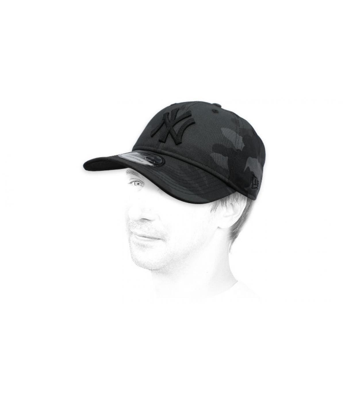 Cappellino pieghevole NY camo