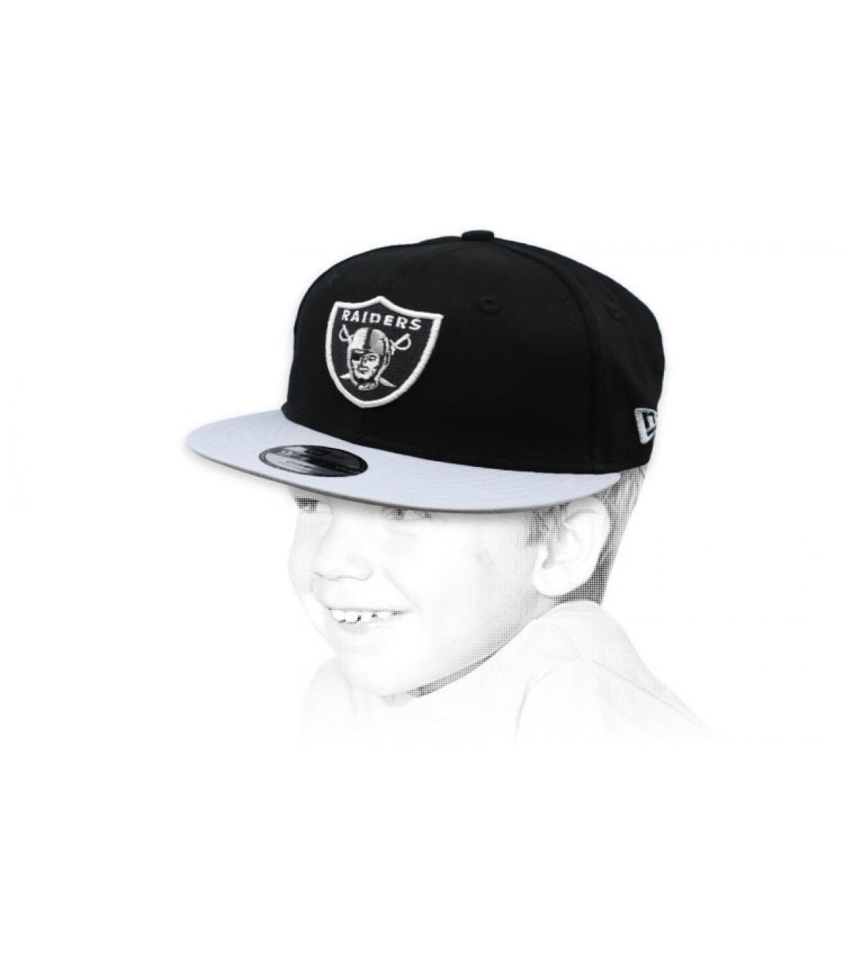 snapback Raiders bambino nero