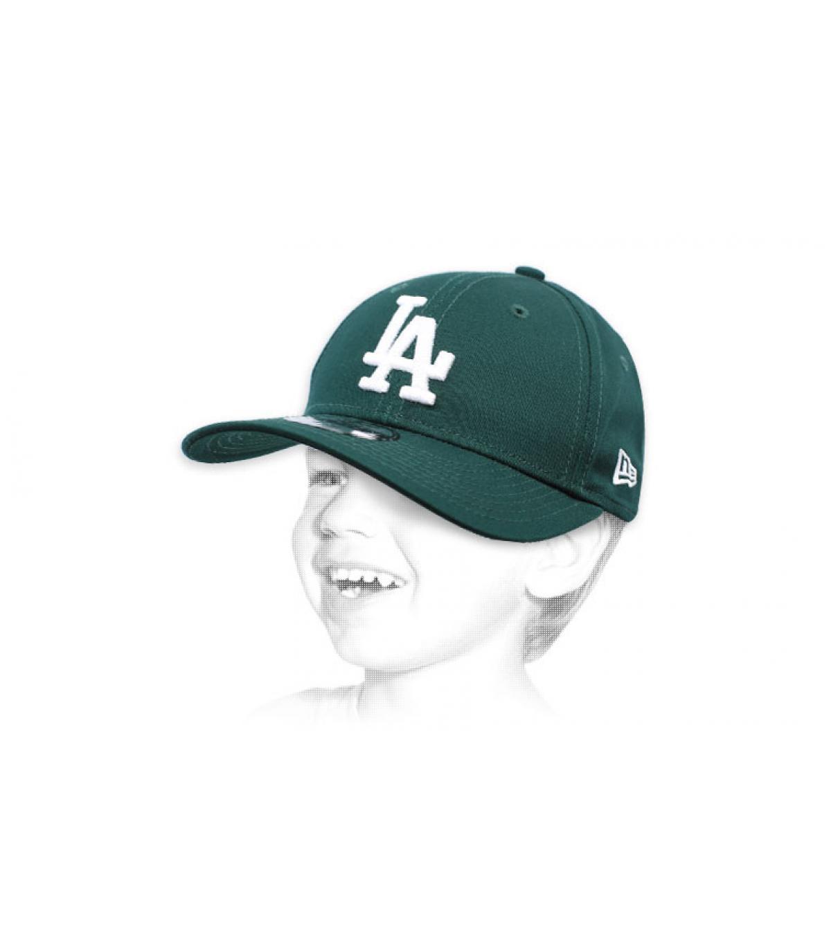 Berretto da bambino verde LA