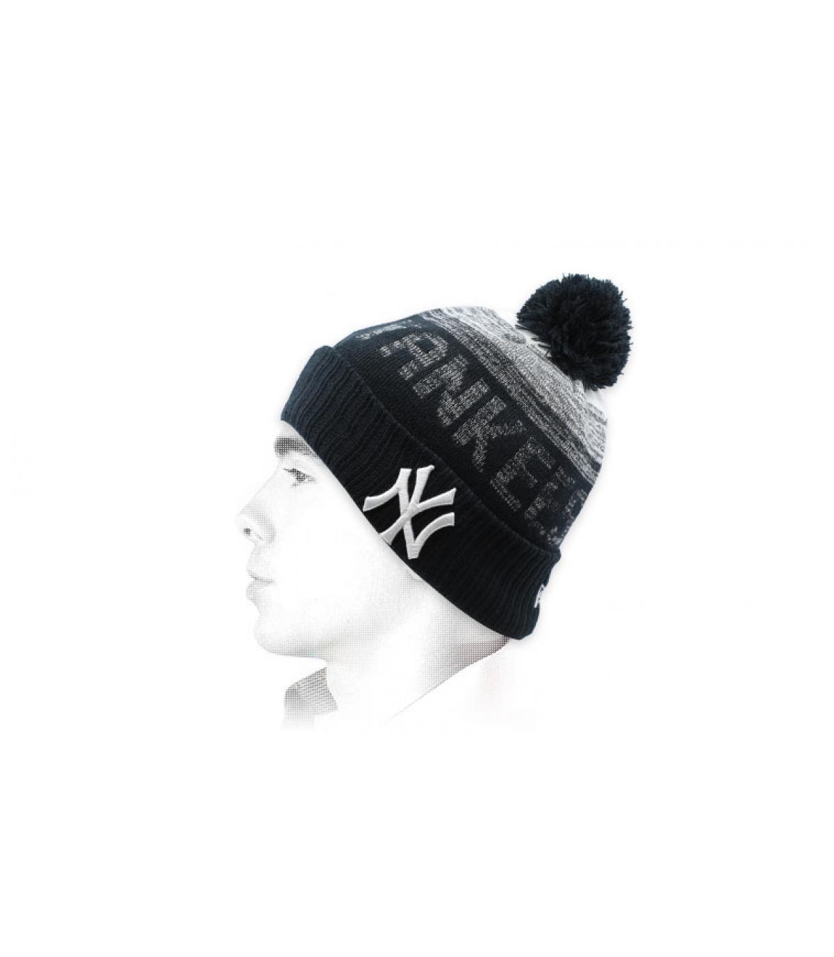 cappello di Yankees di nappa nera