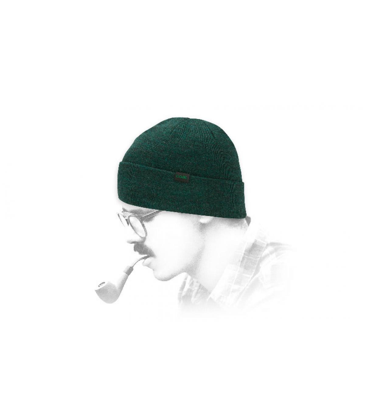 Sombrero de lana verde carbón