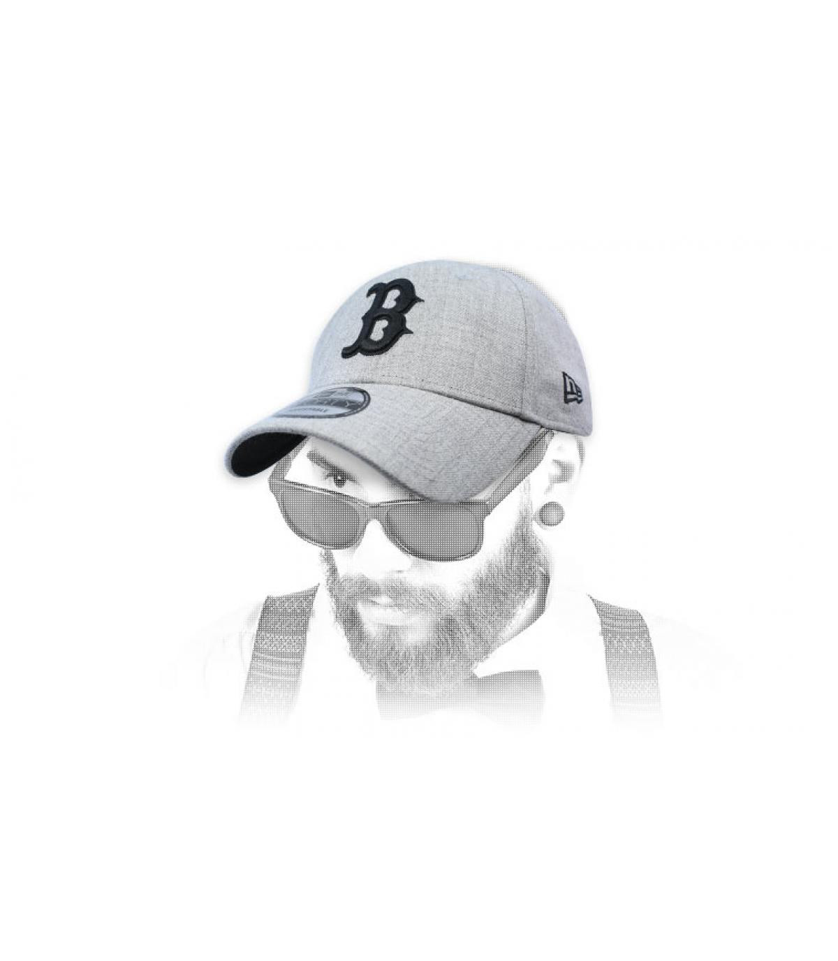 cappuccio B nero grigio