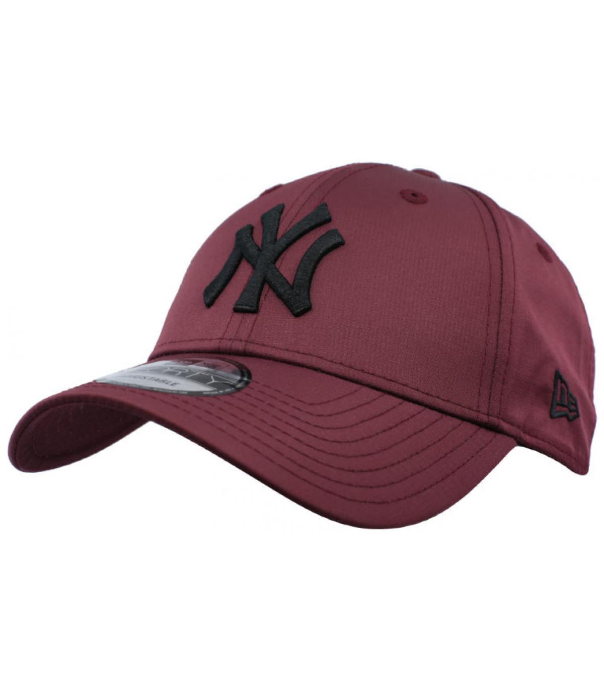 berretto NY bordeaux nero