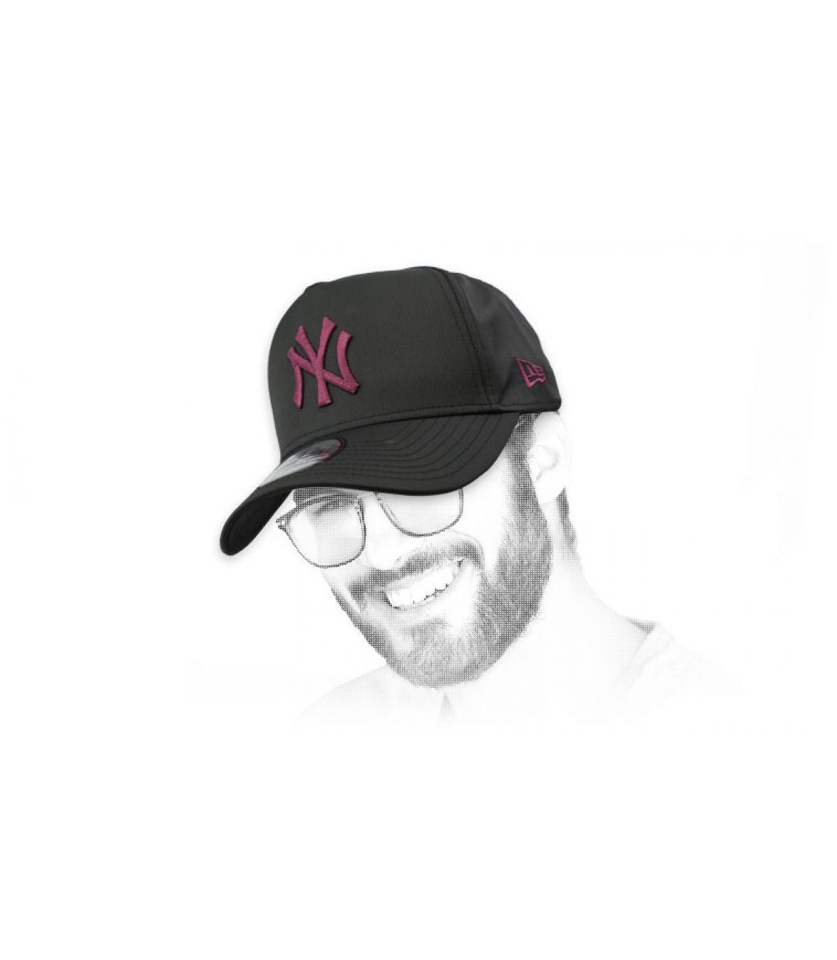 berretto LA nero bordeaux