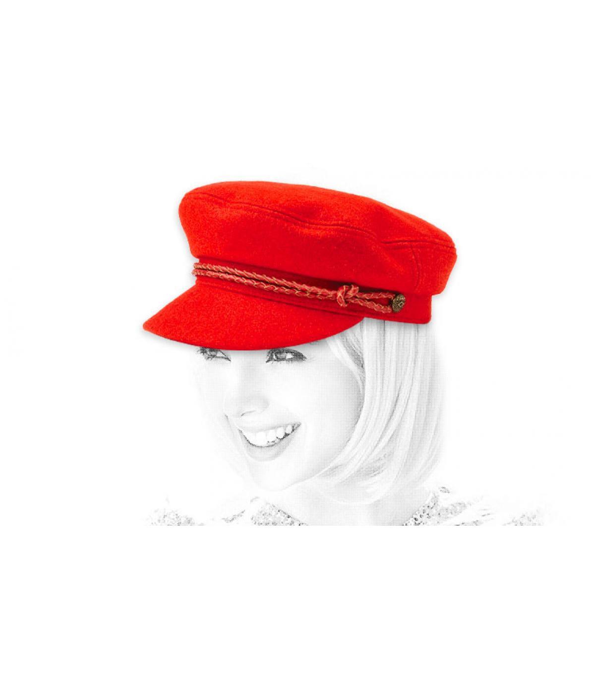 berretto rosso donna