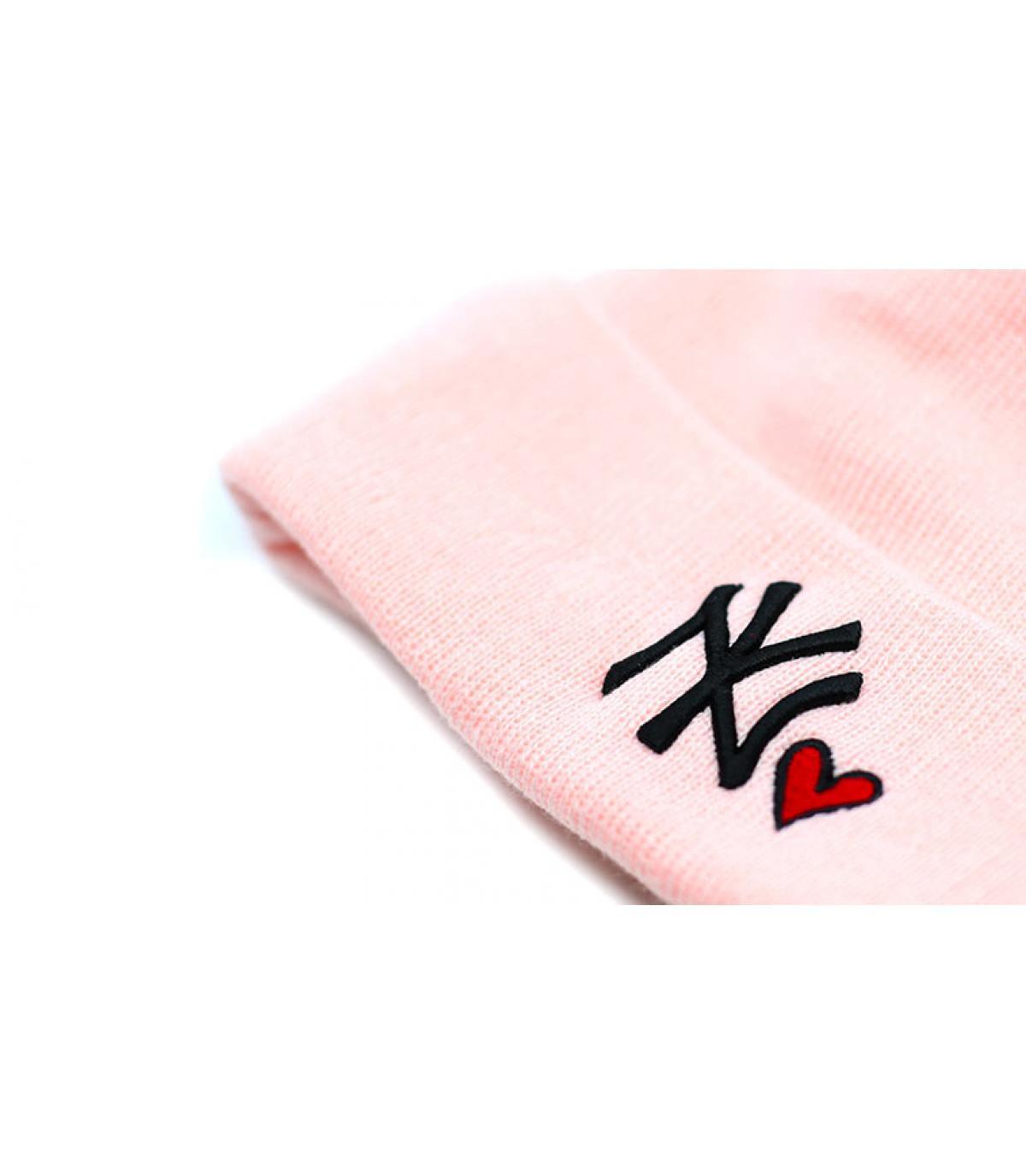 Dettagli Bonnet Wmns Heart NY knit pink - image 3