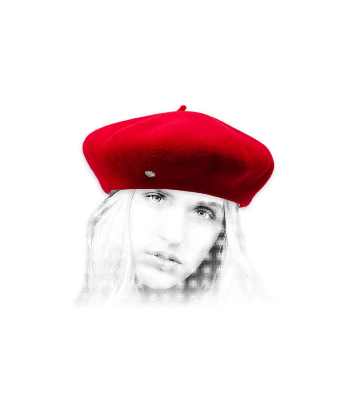 berretto di cashmere rosso