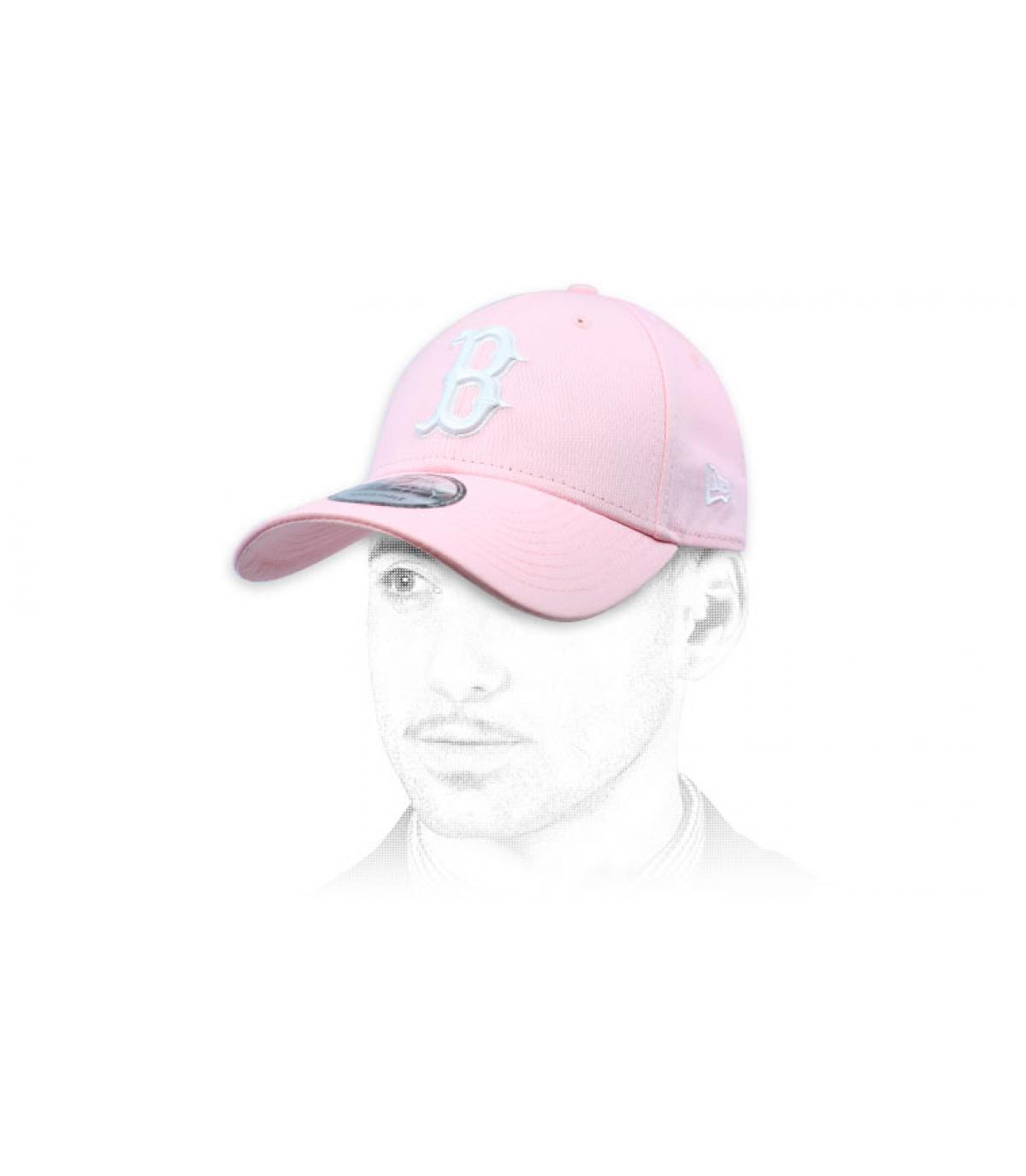 berretto rosa bianco B