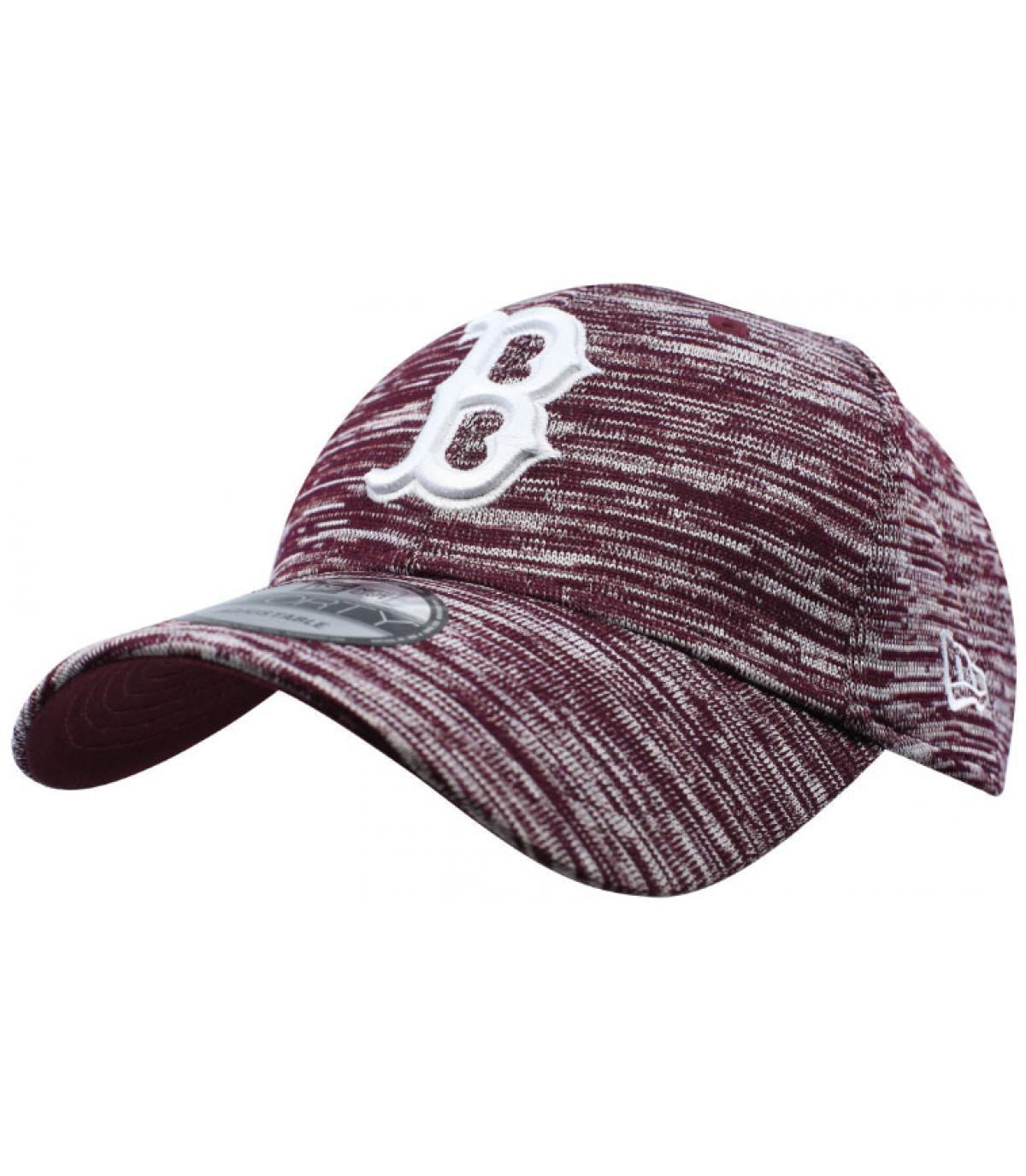 Cappellino bordeaux B costruito