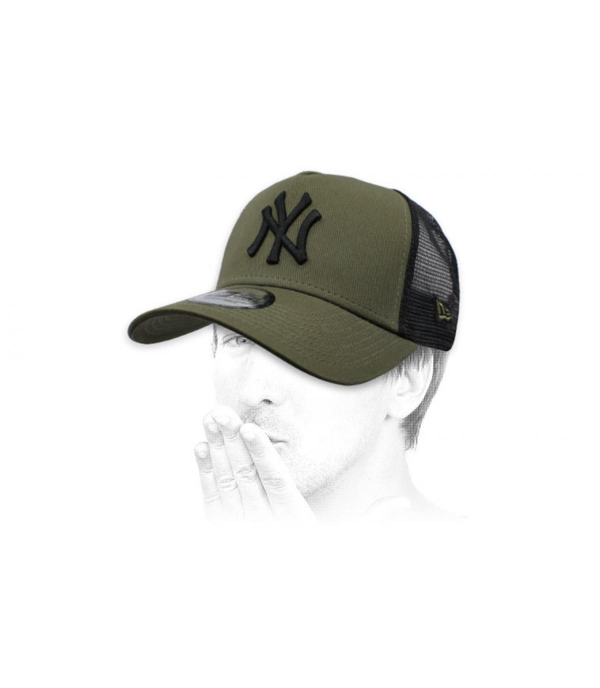 trucker NY nero verde