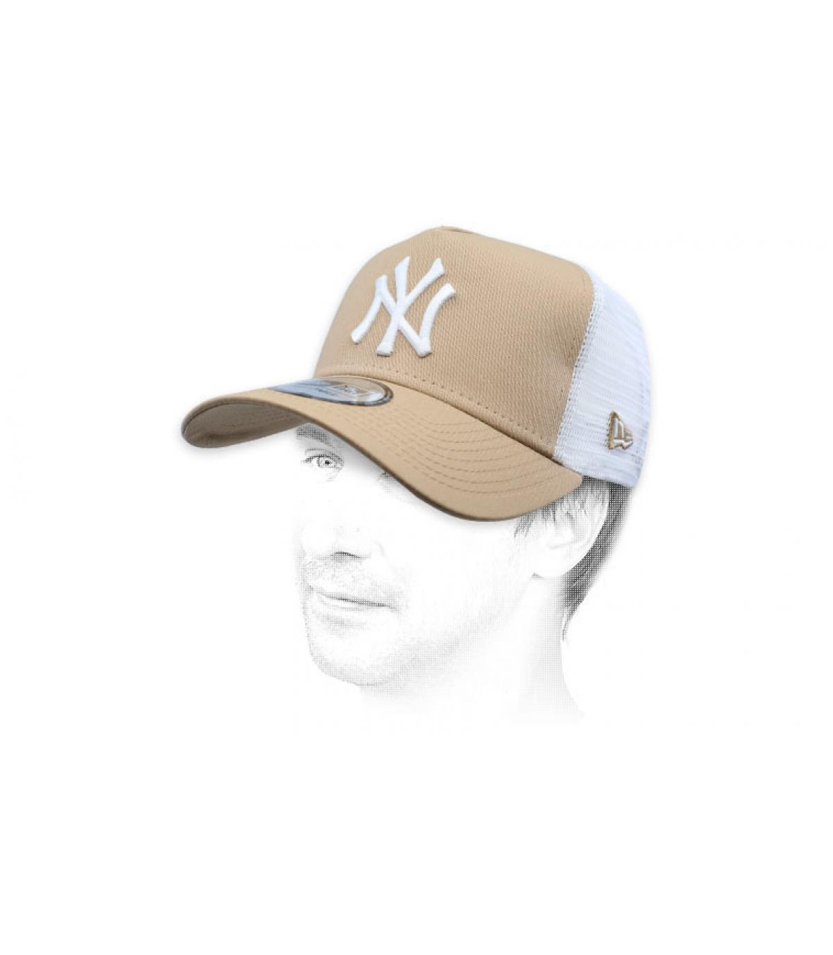 trucker NY beige bianco